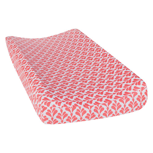 Shell Floral Changing Pad Cover