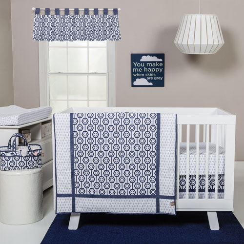 Trend Lab Hexagon Three-Piece Crib Bedding Set