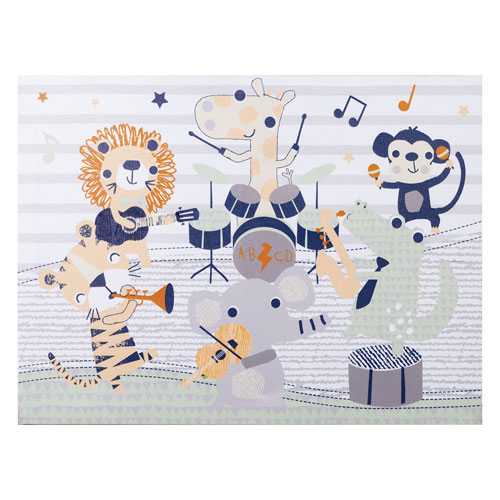 Safari Rock Band Canvas Wall Art