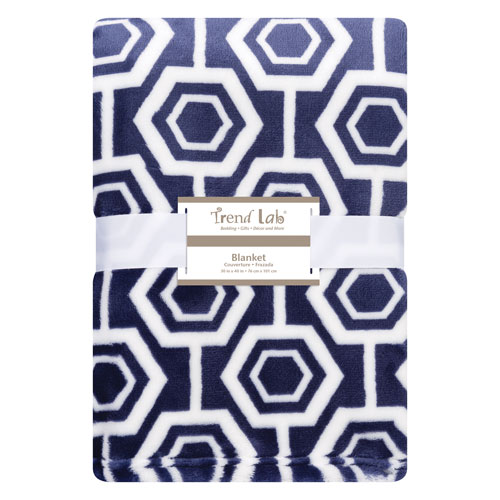 Trend Lab Hexagon Plush Baby Blanket