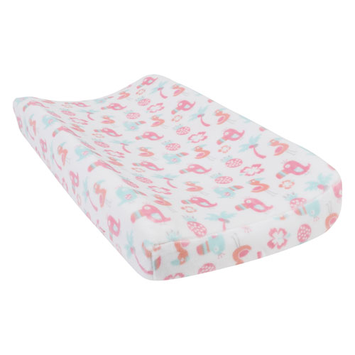 Tropical Pastel Plush Changing Pad Cover