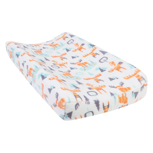 Woodland Moose Plush Changing Pad Cover