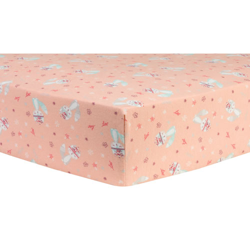 Trend Lab Fox and Flowers Deluxe Flannel Fitted Crib Sheet
