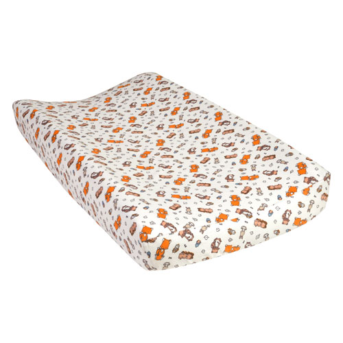 Trend Lab Wild Bunch Deluxe Flannel Changing Pad Cover