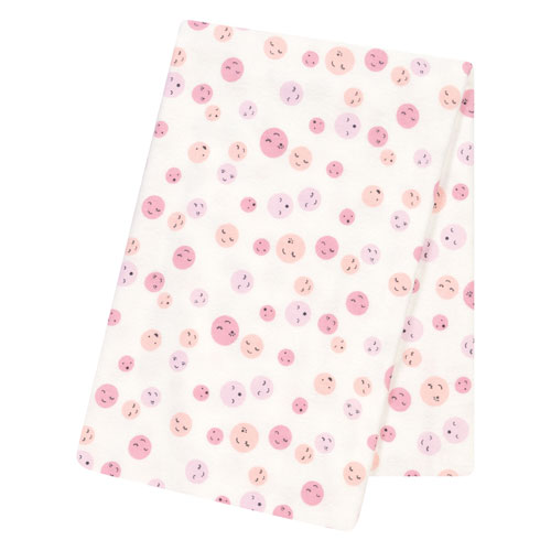 Trend Lab Be Happy Jumbo Deluxe Flannel Swaddle Blanket