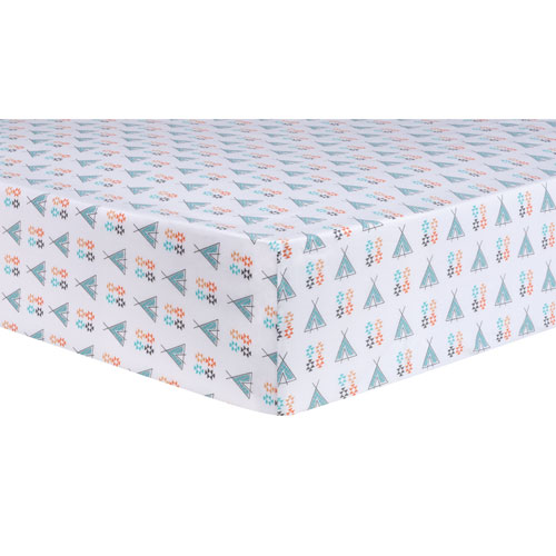 Trend Lab Aztec Tepee Fitted Crib Sheet