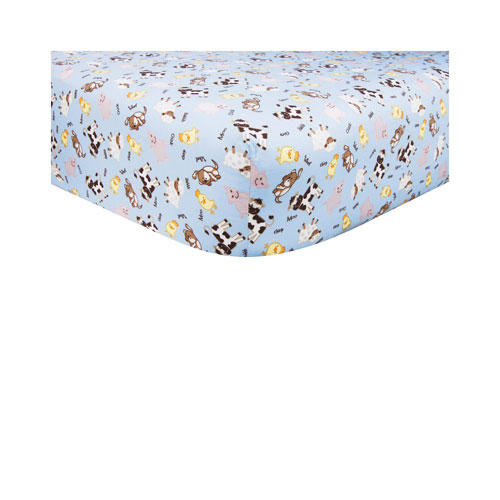 Baby Barnyard Fitted Crib Sheet