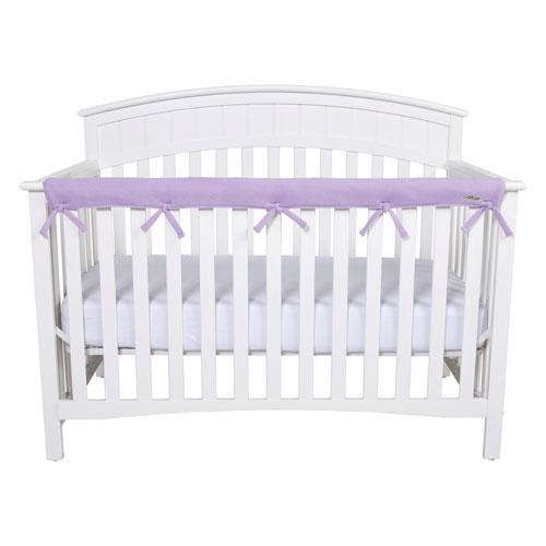CribWrap Narrow Long Lavender Fleece Rail Cover