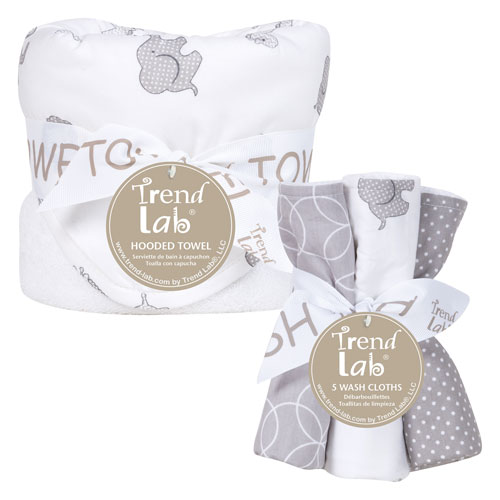 Safari Chevron Six-Piece Hooded Towel and Wash Cloth Set