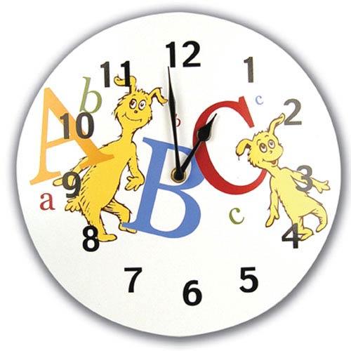 a5b3e128 Trend Lab Dr. Seuss Abc Wall Clock 30066 | Bellacor