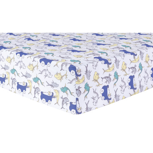 Trend Lab Dr. Seuss New Fish Fitted Crib Sheet