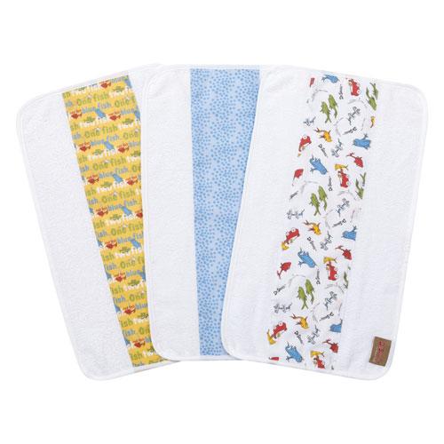 Trend Lab Dr. Seuss One Fish, Two Fish Jumbo Burp Cloth, Set of Three