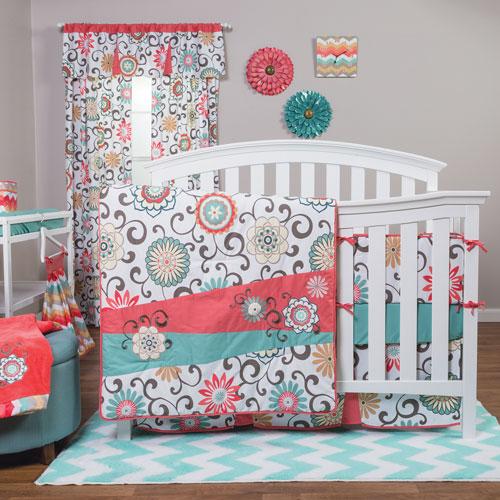 Waverly Pom Pom Play Four-Piece Crib Bedding Set