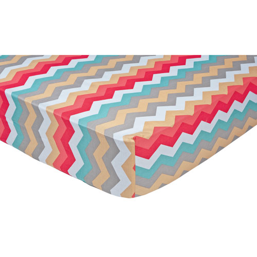 Trend Lab Waverly Pom Pom Play Chevron Crib Sheet
