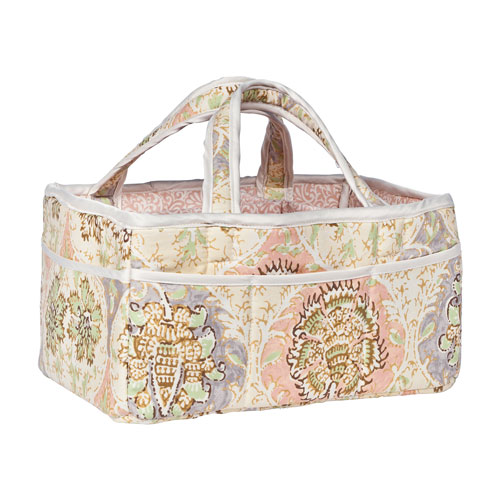 Waverly Rosewater Glam Diaper Caddy