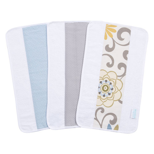 Waverly Pom Pom Spa Jumbo Burp Cloth, Set of Three