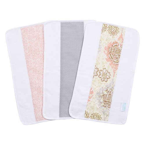 Waverly Rosewater Glam Jumbo Burp Cloth, Set of Three