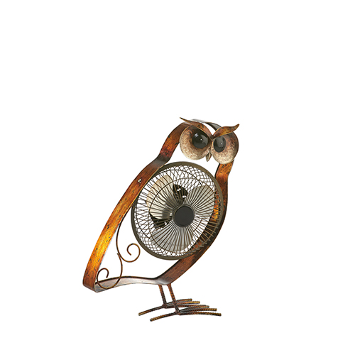 Owl Brown 12-Inch USB Fan