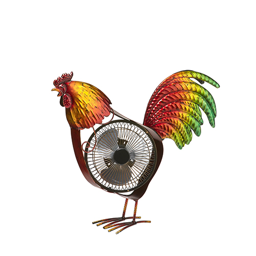 Rooster Red 18-Inch USB Fan