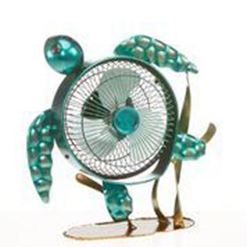Deco Breeze Sea Turtle Blue 12-Inch USB Fan