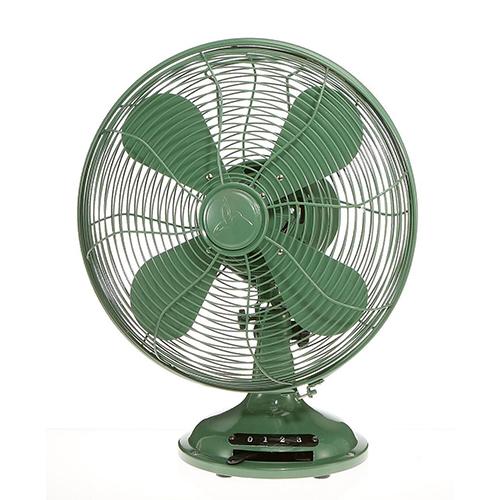 Euro Retro Industrial Green 13-Inch Table Fan