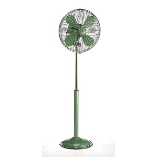 Deco Breeze Euro Retro Industrial Green Floor Fan With Adjustable