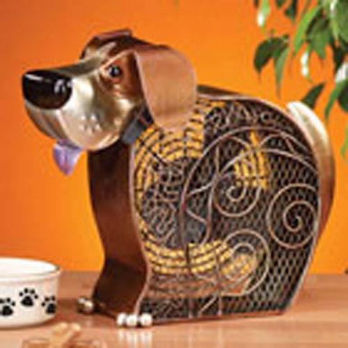 Deco Breeze Bronze Silver Figurine Fan Doggie