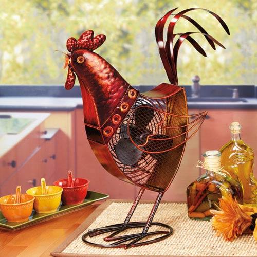 Multi Colored Figurine Fan Rooster