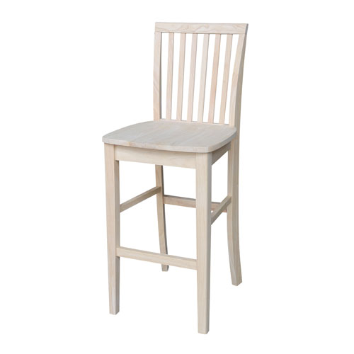 Mission 29-Inch Unfinished Wood Bar Stool