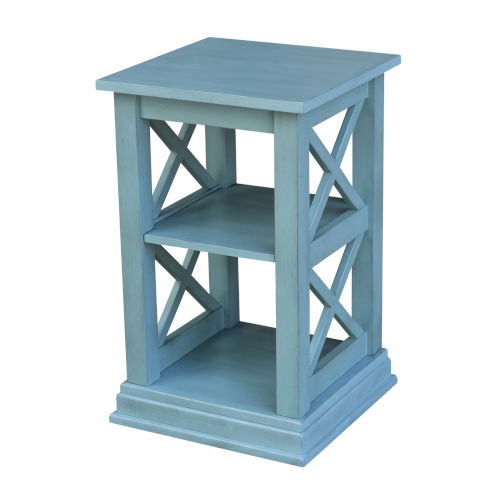 Hampton  Ocean blue 16-Inch  Accent Table with Shelves