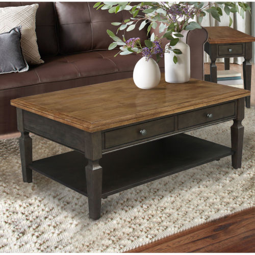 Vista Hickory and Washed Coal Coffee Table