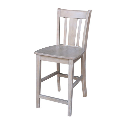 San Remo Counterheight Stool in Washed Gray Taupe