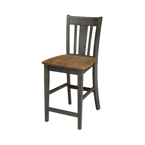 San Remo Hickory and Washed Coal Counterheight Stool