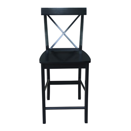 Sensational International Concepts Black X Back Counter Height Stool Cjindustries Chair Design For Home Cjindustriesco