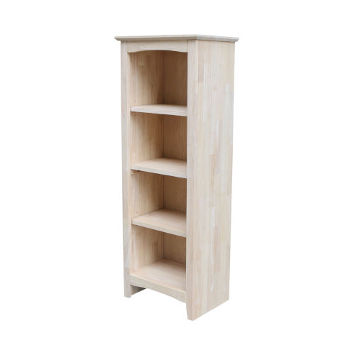 Beige Bookcase with Three Shelves