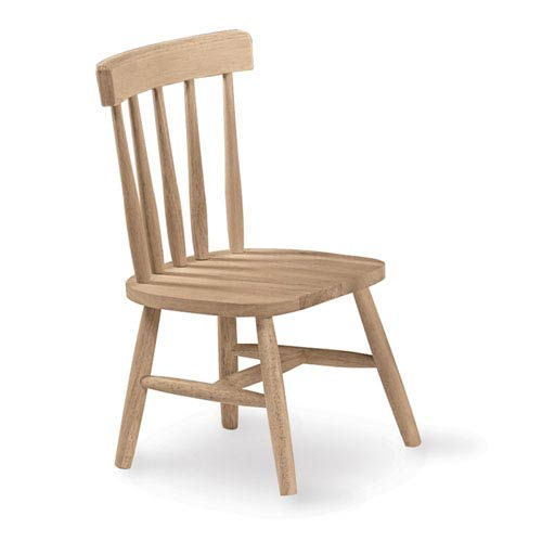 Set of Two Unfinished Wood Children's Chairs