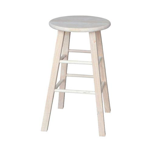 International Concepts Seating-Stools Unfinished Wood Round Top Stool