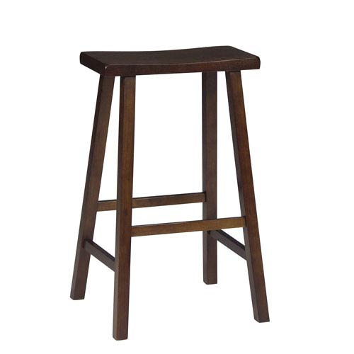 Miraculous Walnut 29 Inch Saddle Seat Wood Bar Stool Gmtry Best Dining Table And Chair Ideas Images Gmtryco