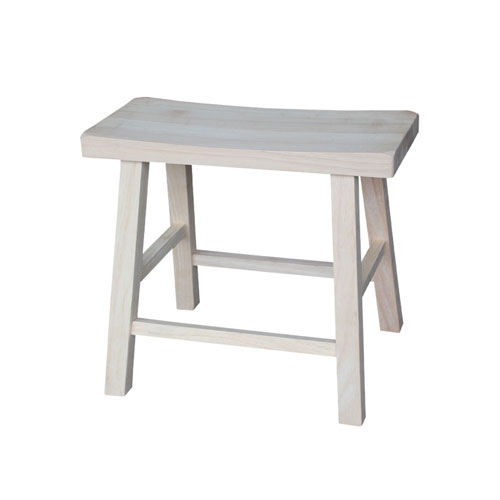 18-Inch Unfinished Wood Saddle Seat Stool