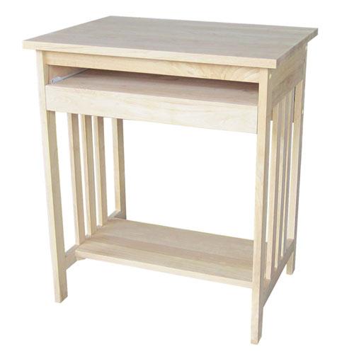 Mission Unfinished Wood Computer Desk