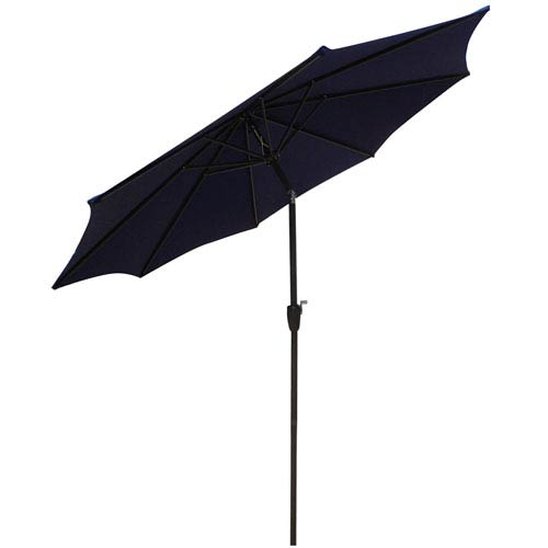 Market Umbrella Navy Blue 9-Foot Steel Pole