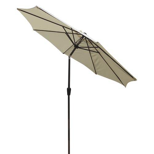 Market Umbrella Natural 9-Foot Steel Pole