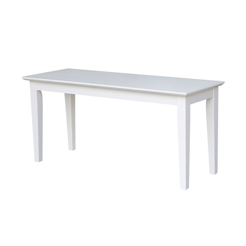 Shaker Styled Bench in White