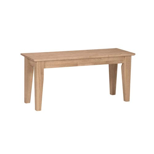 Seating Unfinished Wood Shaker Style Bench