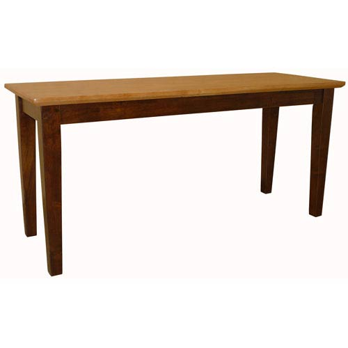 Dining Essentials Cinnamon and Espresso Shaker Styled Bench