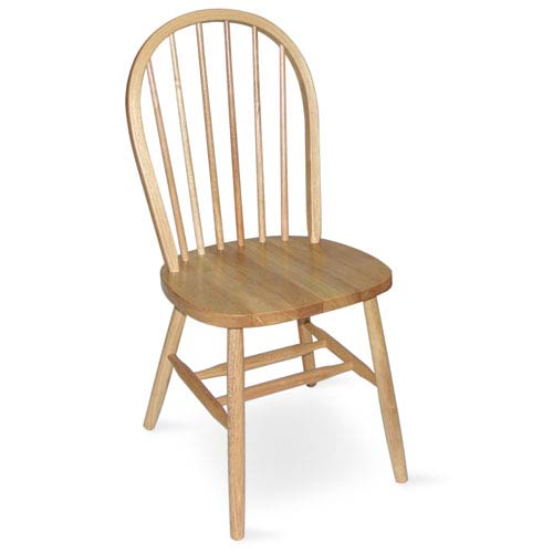 37-Inch High Spindleback Natural Chair