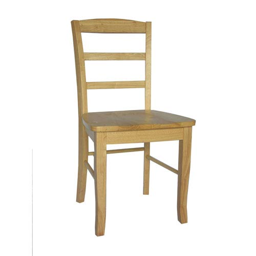 Madrid Natural Ladder Back Chair, Set of Two