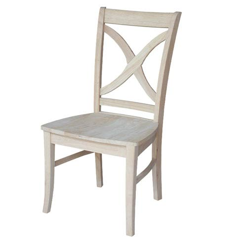 International Concepts Vineyard Curved X-Back Chair, Set of Two