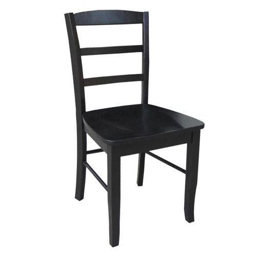 Madrid Black Ladder Back Chair, Set of Two