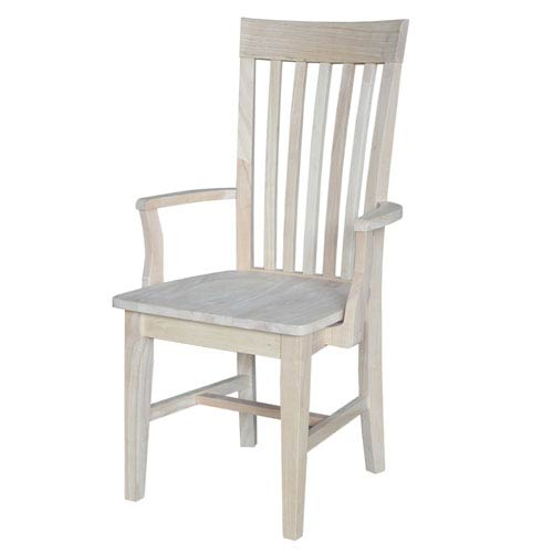 International Concepts Mission Tall Dining Arm Chair Unfinished